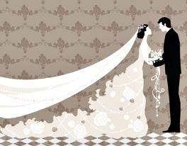 BrideWithLongVeil&Groom