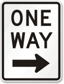 One-Way-Traffic-Sign